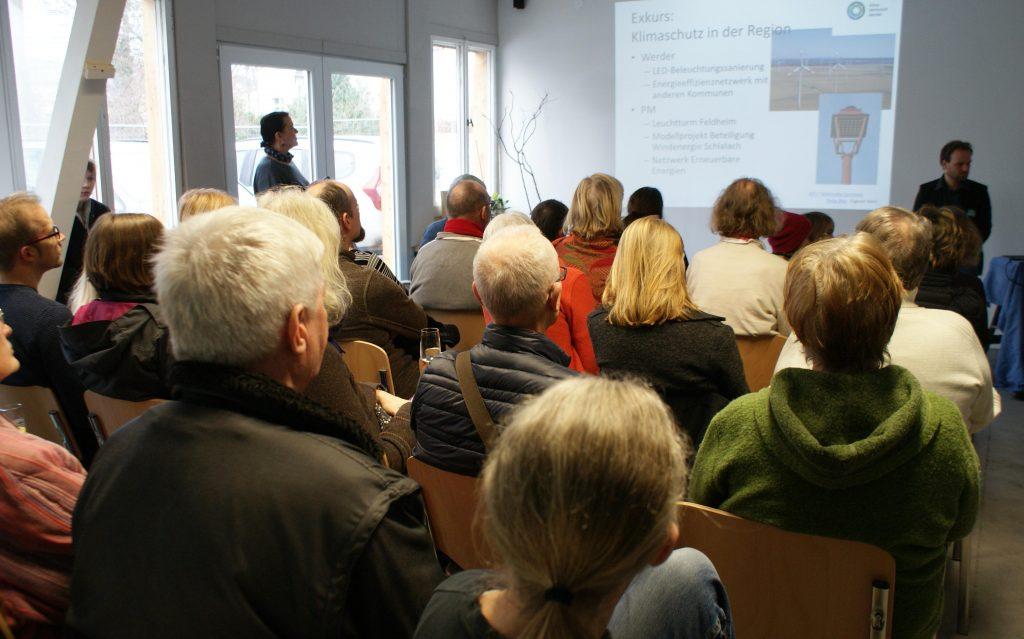 Klimawerkstatt Werder Eröffnungsfeier Vortrag