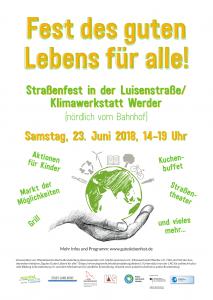 Fest am Tag des Guten Lebens für alle  (Straßenfest Luisenstraße) @ Klimawerkstatt Werder