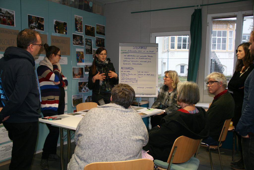 Diskussionsrunde beim Kiezklimatag Januar 2019 der Klimawerkstatt Werder