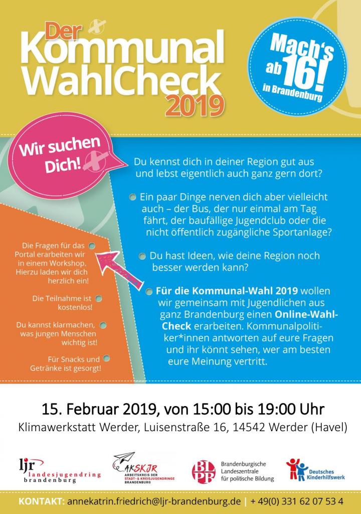 Kommunal-Wahl-Check 2019 - Workshop @ Klimawerkstatt Werder