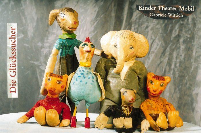 """Die Puppen des Theaterstücks """"Die Glückssucher"""" von Gabriele Wittich"""