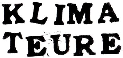 """Schriftzug """"Klimateure"""" für das gleichnamige Projekt der Klimawerkstatt Werder"""