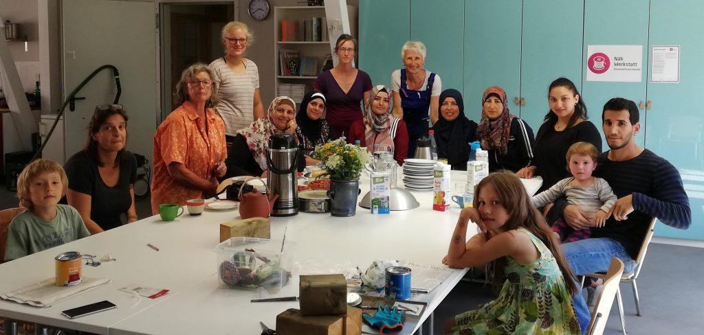 Al Walajeh trifft Klimawerkstatt Werder - Gruppenfoto