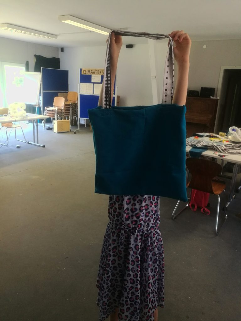 Taschen in der Klimawerkstatt Werder